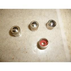 4 bouchons de valves en métal