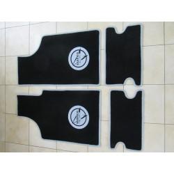 Tapis de sol Noir écriture Grise Matra 530